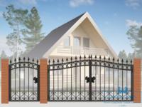 Кованые ворота для дачи №1