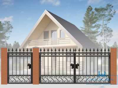 Кованые ворота для дачи №13