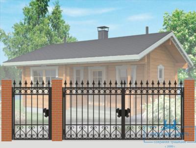 Кованые ворота для дачи №2