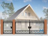 Кованые ворота для дачи №6
