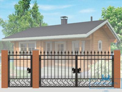 Кованые ворота для дачи №9